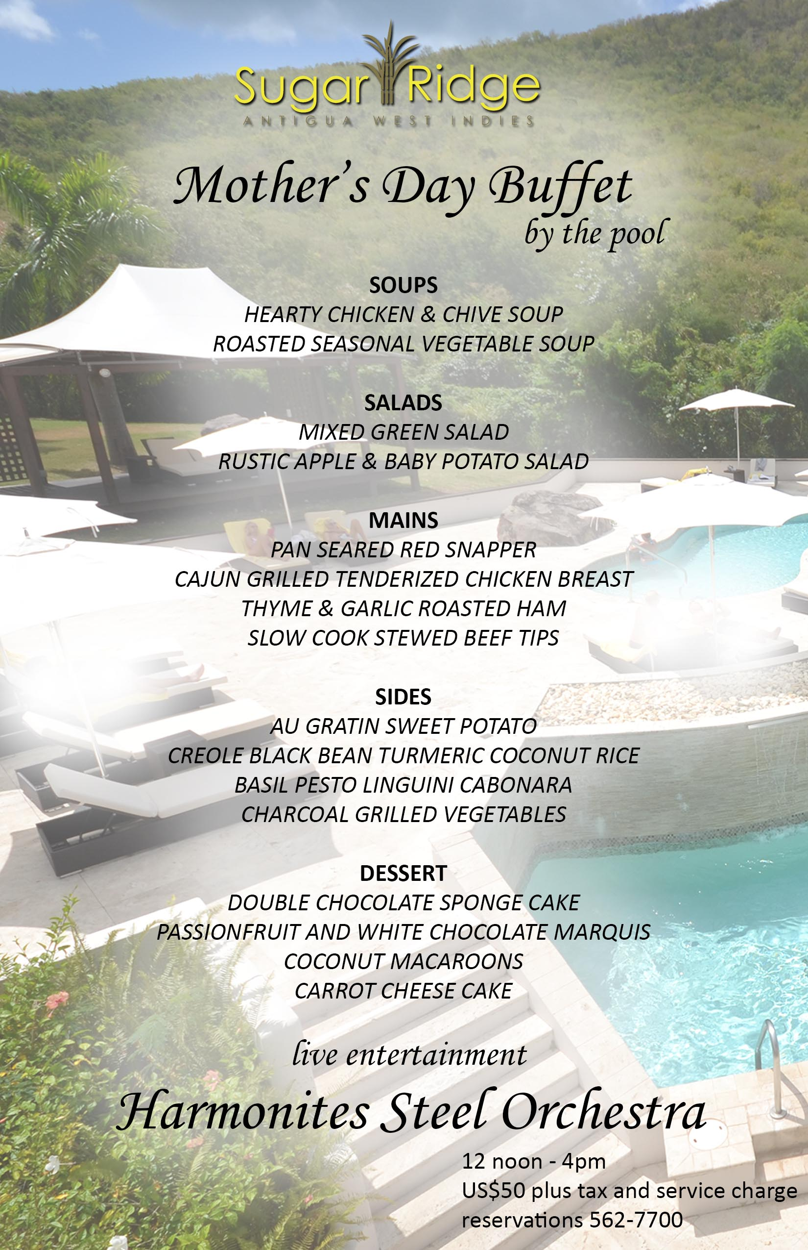 Mother's Day Brunch at Sugar Club by The Pool @ Sugar Club Lounge