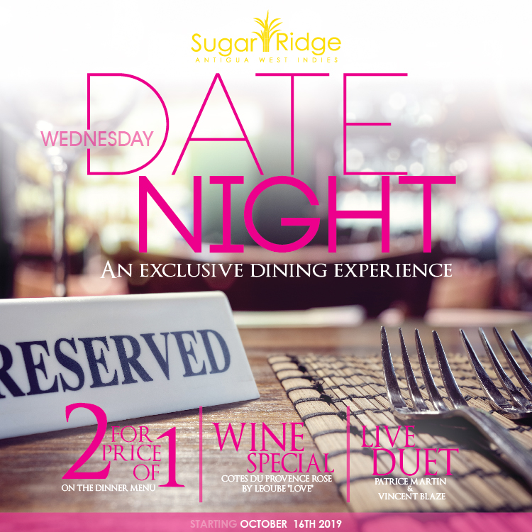 Wednesday Date Night - 2 for the Price of 1 @ Sugar Club Restaurant