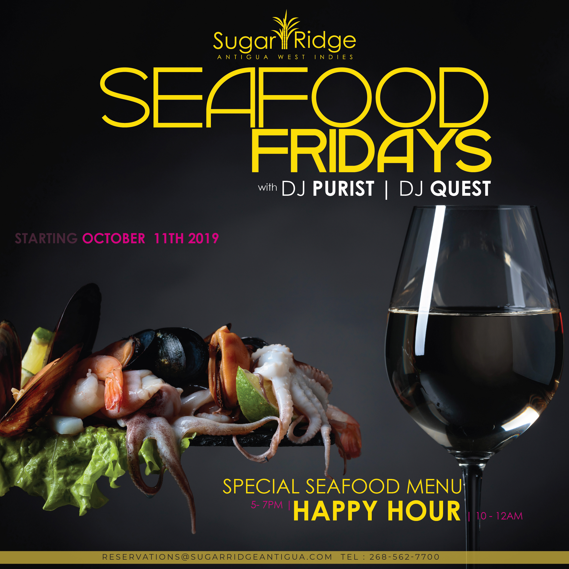 Friday Seafood Night - Sugar Club Restaurant (DJ Purist / DJ Quest) @ Sugar Club Restaurant